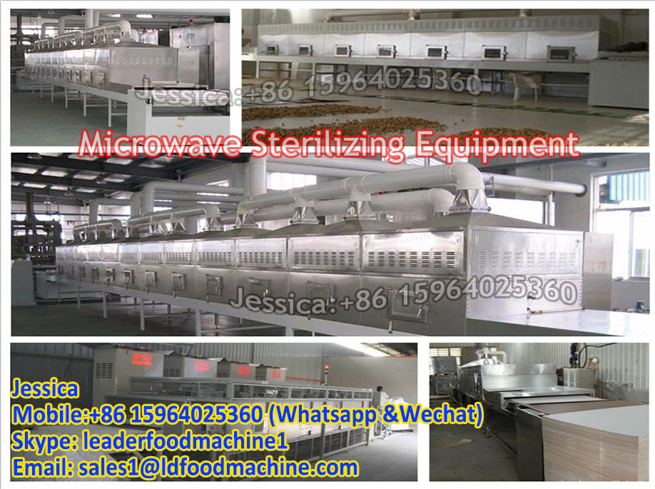 Shandong Leader belt conveyor microwave heating oven for lunch box
