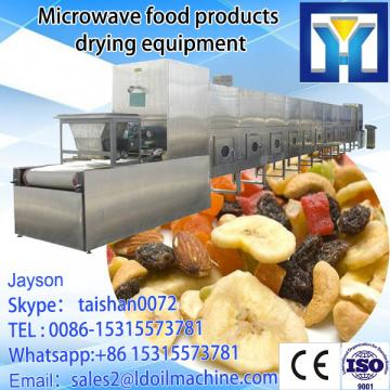 Tunnel type microwave tea drying and sterilization processing machine
