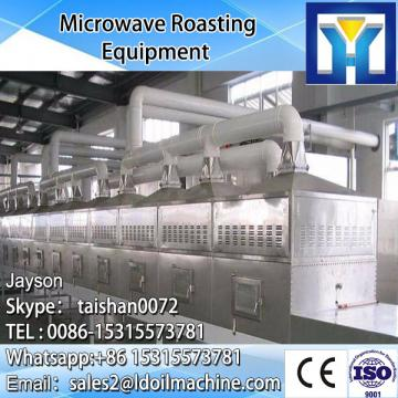 Conveyor belt microwave drying and cooking machine for prawns