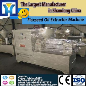 Continuous microwave tunnel dryer oven for flower