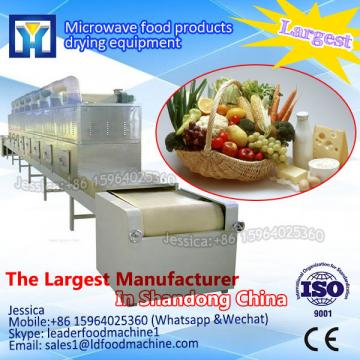 Continuous conveyor belt type microwave broadleaf holly leaf dryer