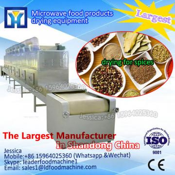 High capacity conveyor microwave dryer and sterilization oven for wheat germ