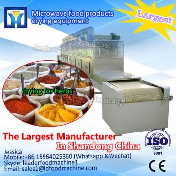 Continous microwave fish processing machine