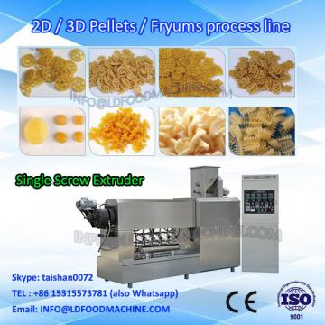 wheat-based potato-based twice extrusion snacks processing line