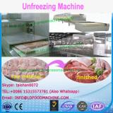 Full automatic microwave fish thawing equipment/seafood unfreezing machinery
