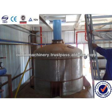 Palm oil refinery plant with fractionation