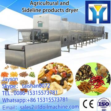 Tunnel type microwave drying and roasting machine for soybeans