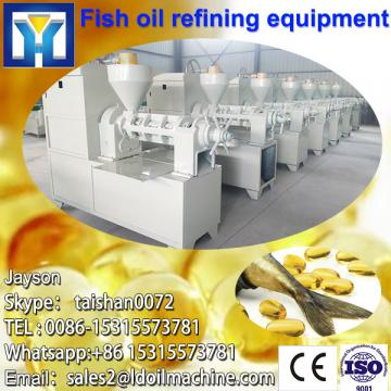 Continous refining of plant oil