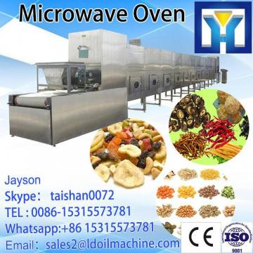 Microwave baking drying continuous processing machine