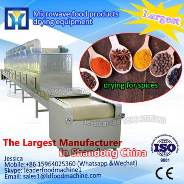 Microwave tunnel dryers for chemical products