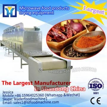 Microwave drying machine for hot peppers