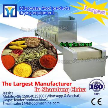 Microwave drying line for chemical products