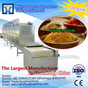 Industrial conveyor microwave dryer for drying green leaves