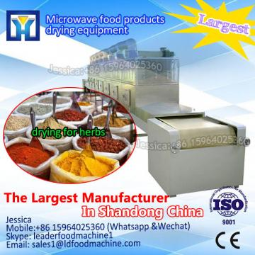 Microwave drying and sterilizing machine for oregano