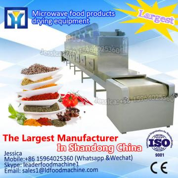 Continuous tunnel microwave dryer and sterilizer equipment for herbs,tea, spice