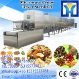 Tunnel belt microwave machine for drying and sterilizing wheat germ